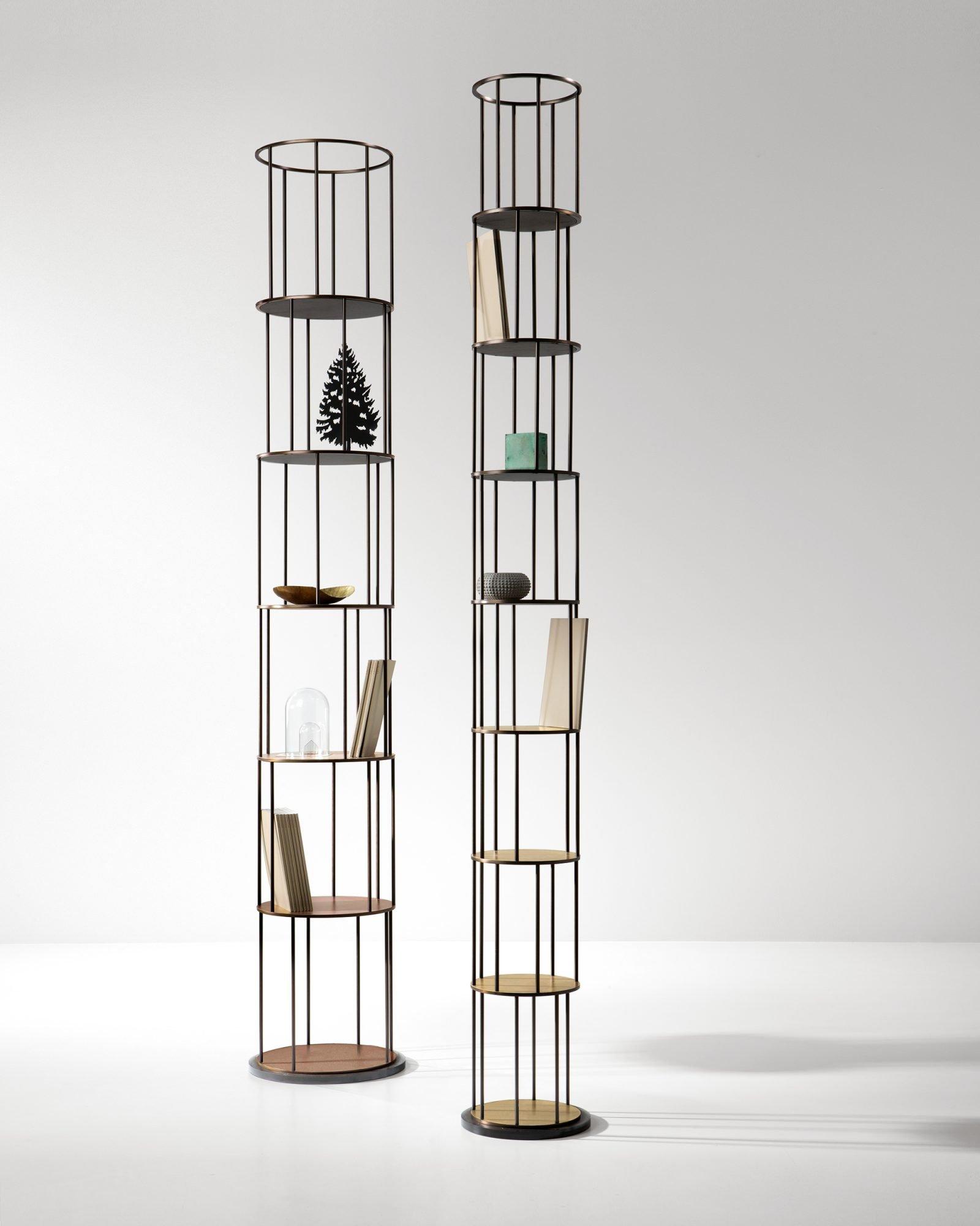 Babele Bookcase from De Castelli, designed by Martinelli Venezia