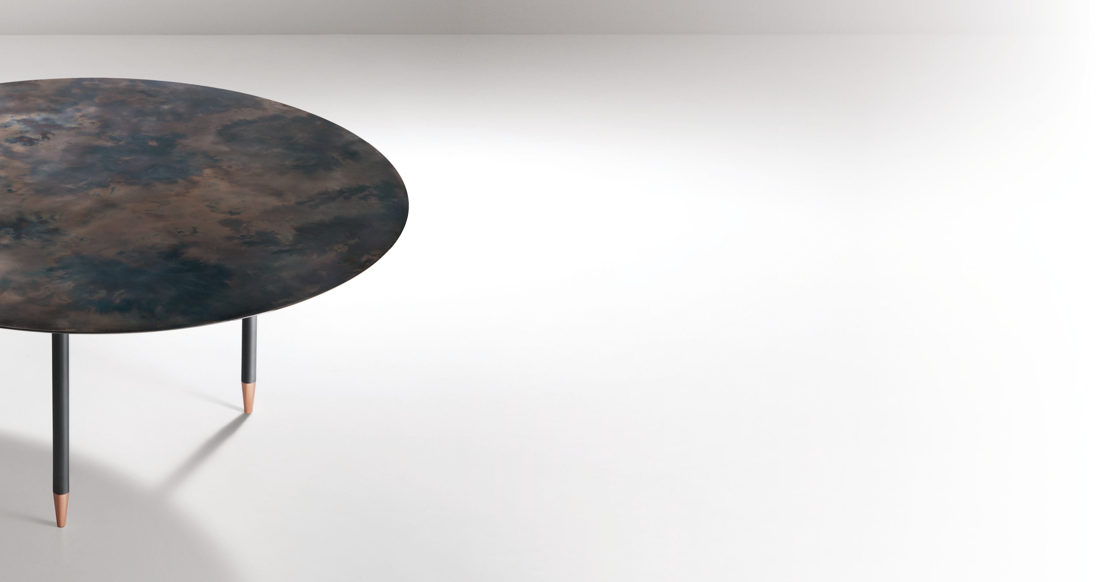 Roma Table  from De Castelli, designed by Minelli Fossati