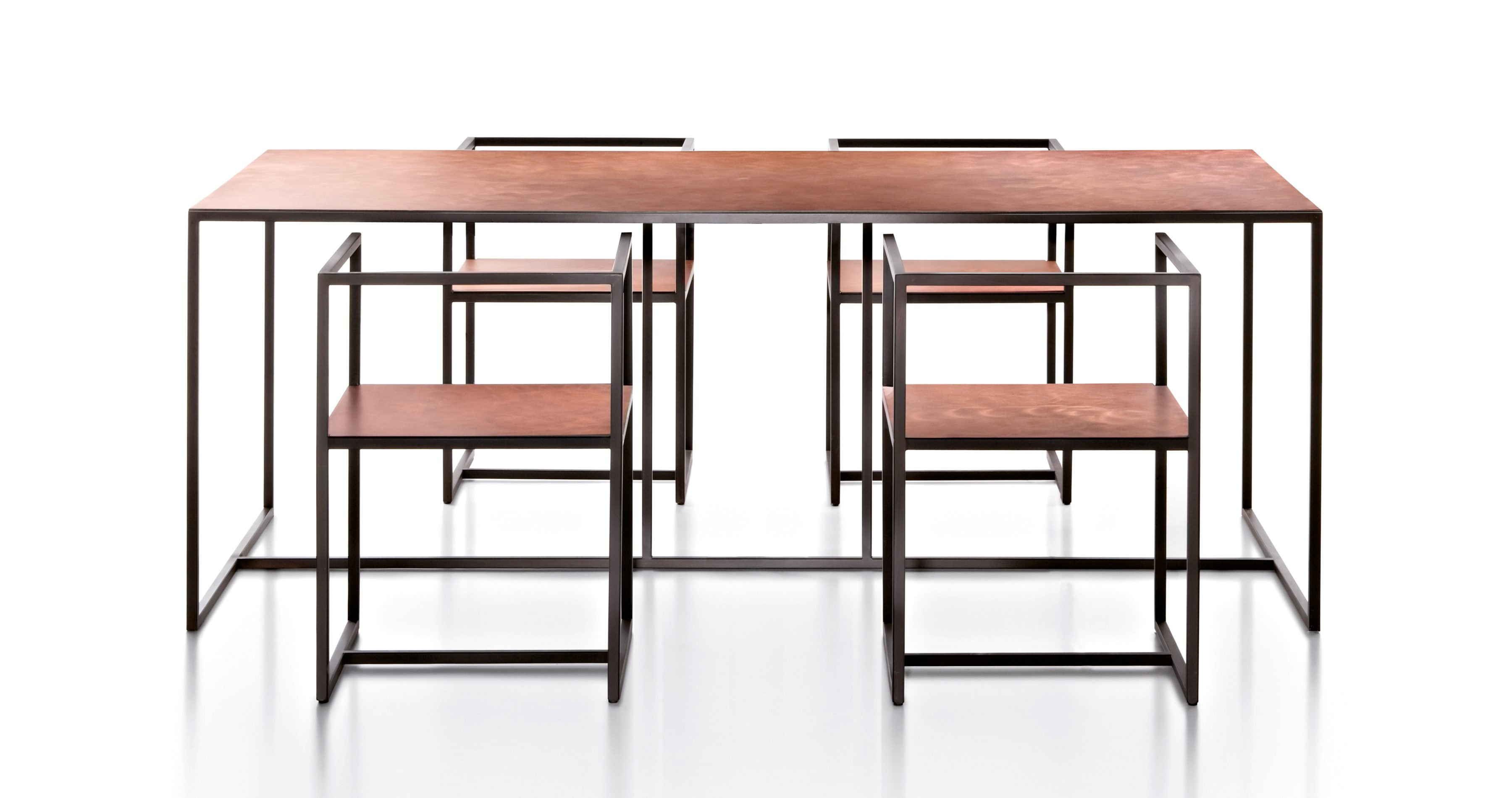 Riviera Table dining from De Castelli, designed by Aldo Cibic