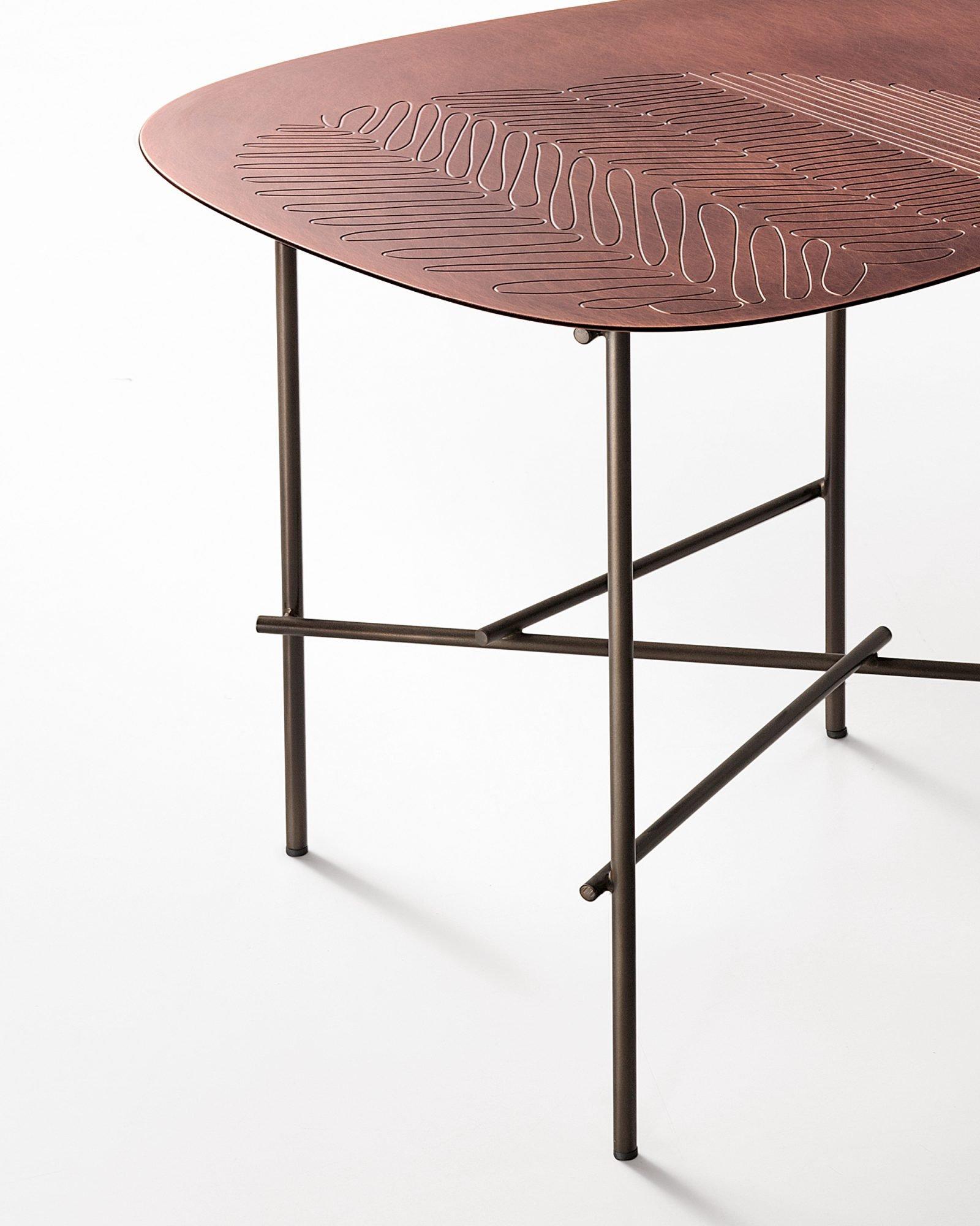 Syro Table end from De Castelli, designed by Emilio Nanni