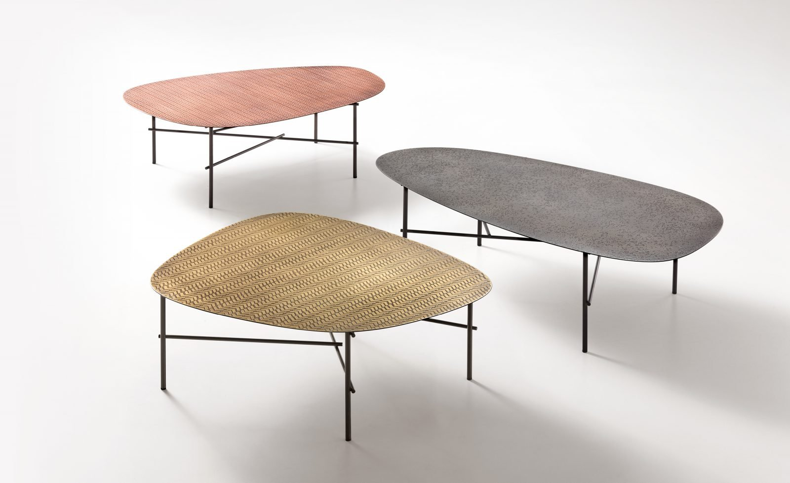 Syro XL Table end from De Castelli, designed by Emilio Nanni