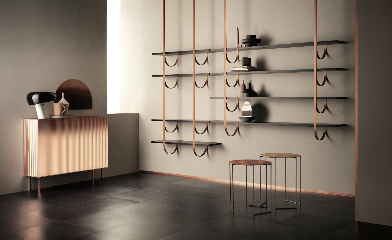 Band Table end from De Castelli, designed by Baldessari&Baldessari