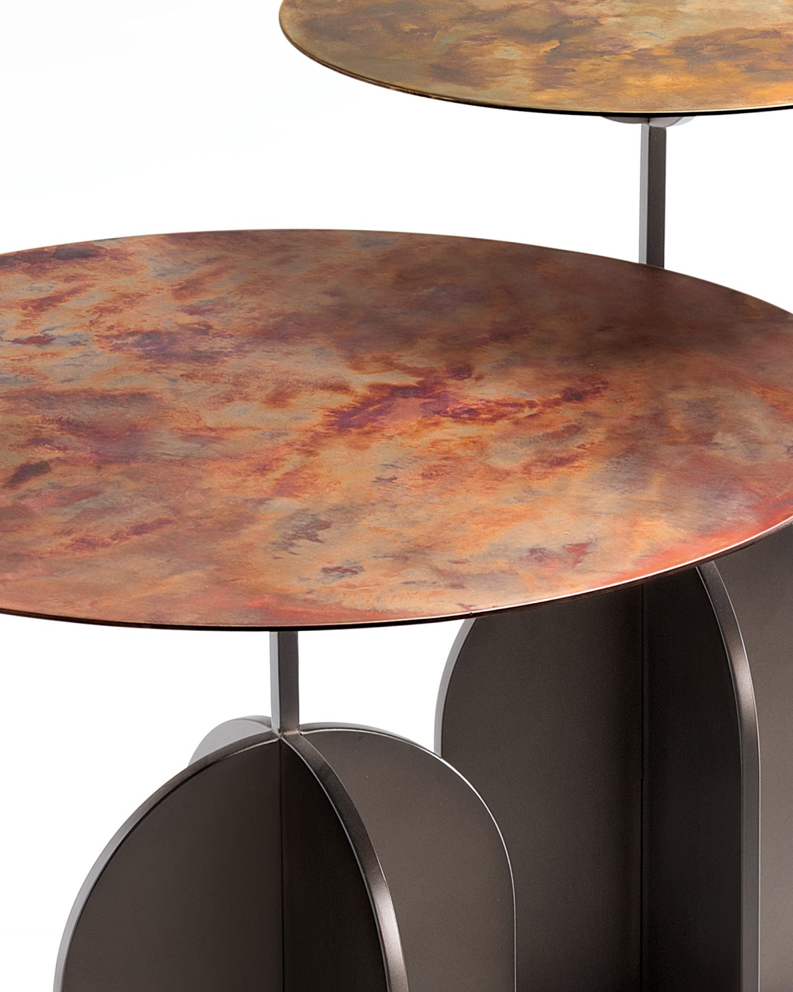 Nicola Table end from De Castelli, designed by IV Design