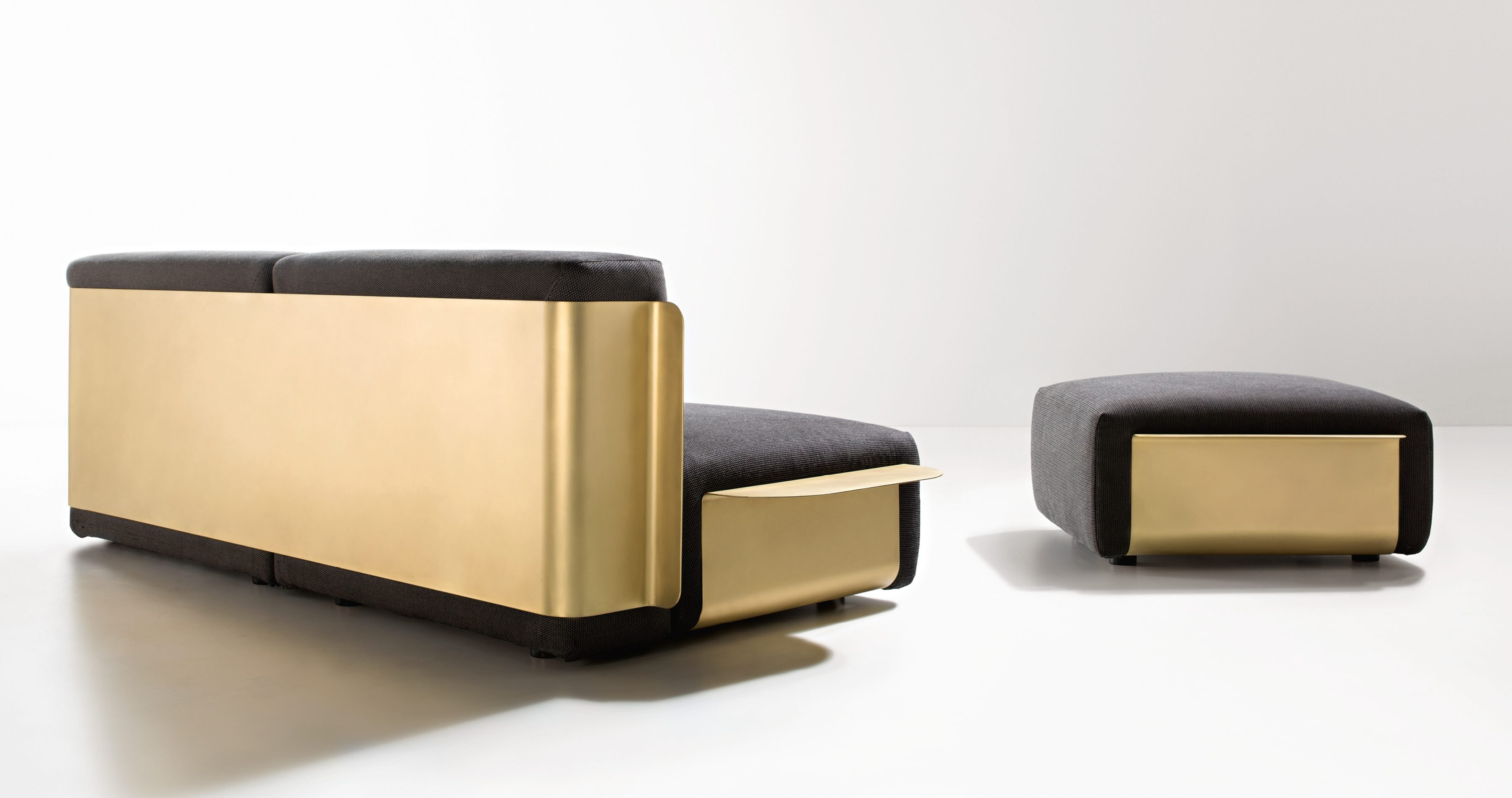 Loom Sofa pouf from De Castelli, designed by Filippo Pisan