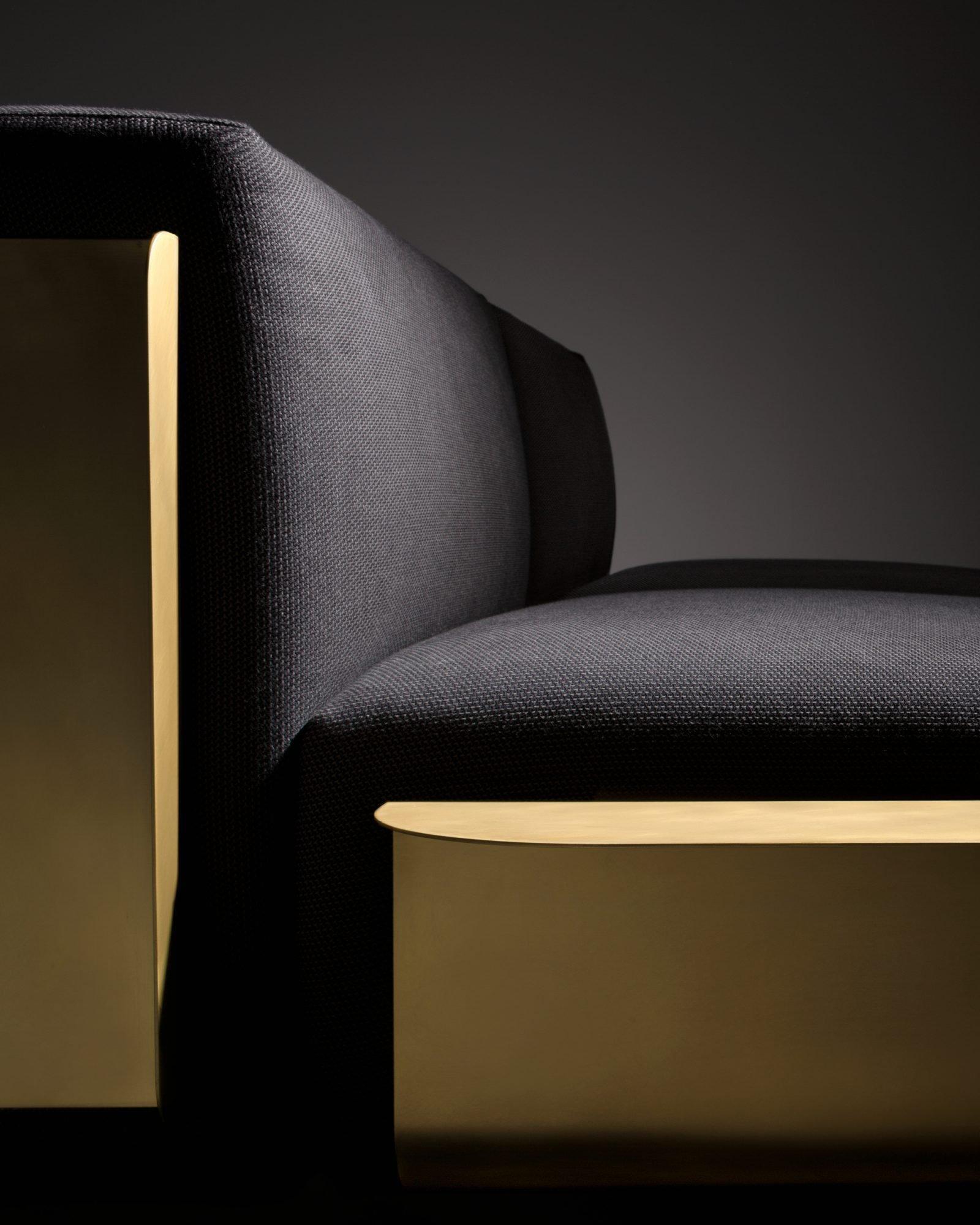 Loom Sofa pouf from De Castelli, designed by Filippo Pisan