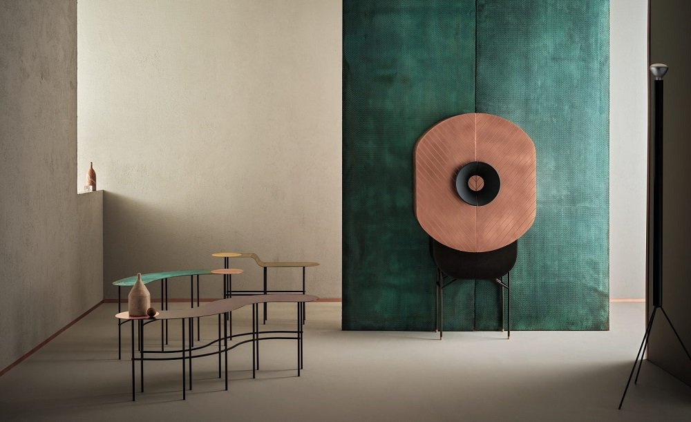 Polifemo Cabinets from De Castelli, designed by Elena Salmistraro