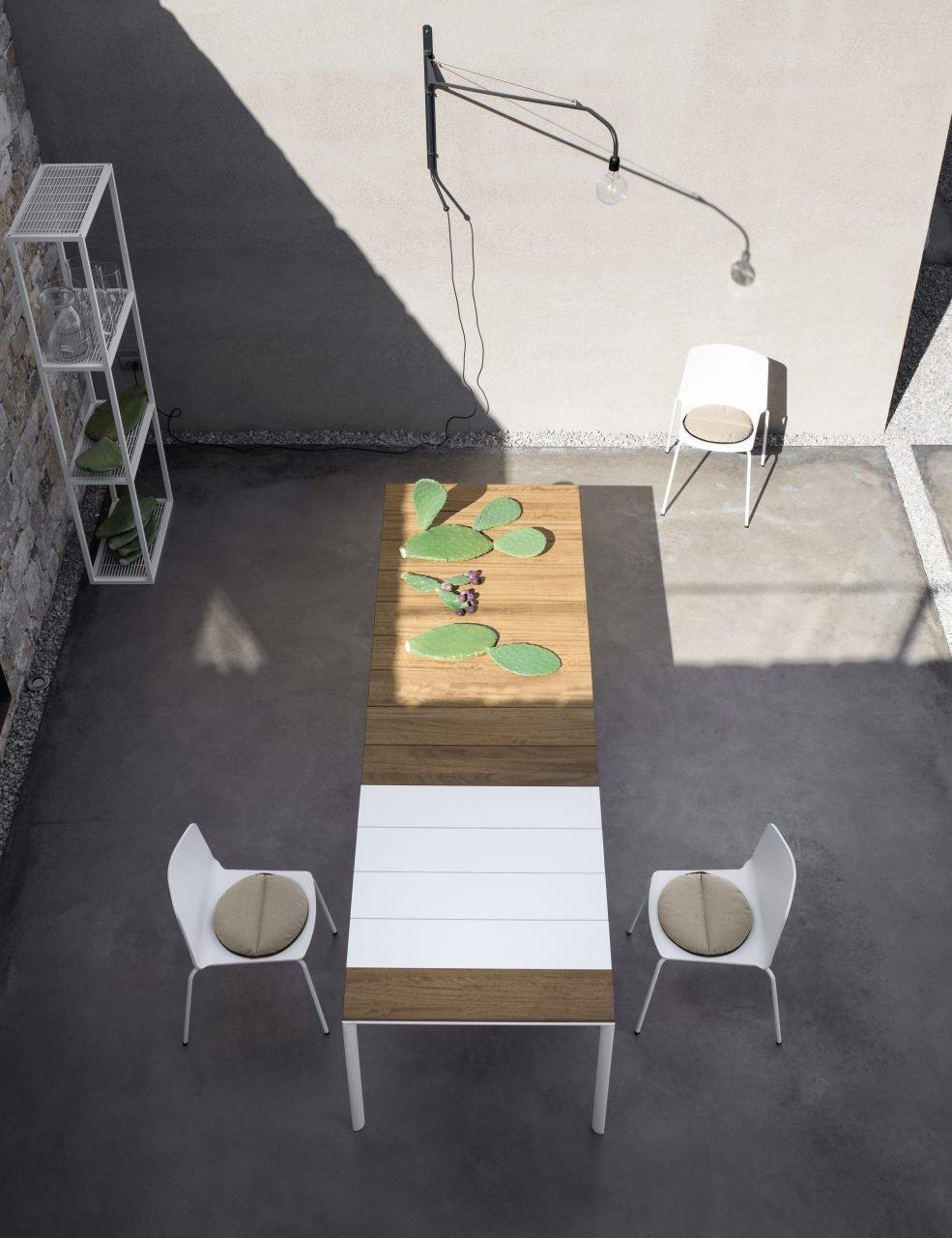 Maki Slated Table dining from Kristalia, designed by Bartoli Design