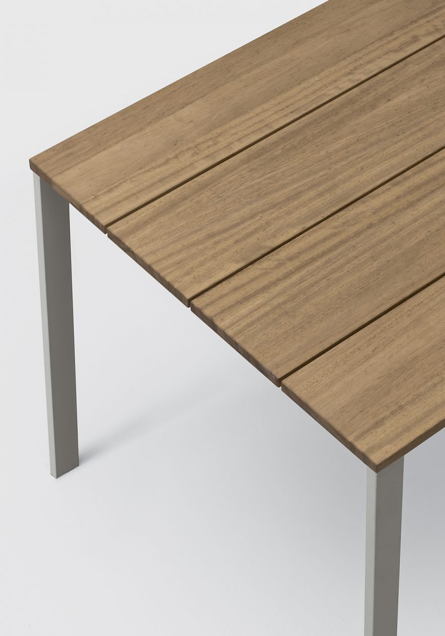 Be Easy Slatted Table end from Kristalia, designed by Bluezone