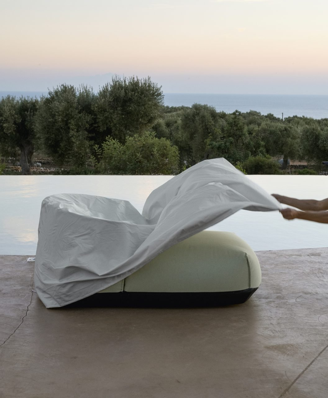 Casper Furniture Cover accessory from Kristalia, designed by Bluezone