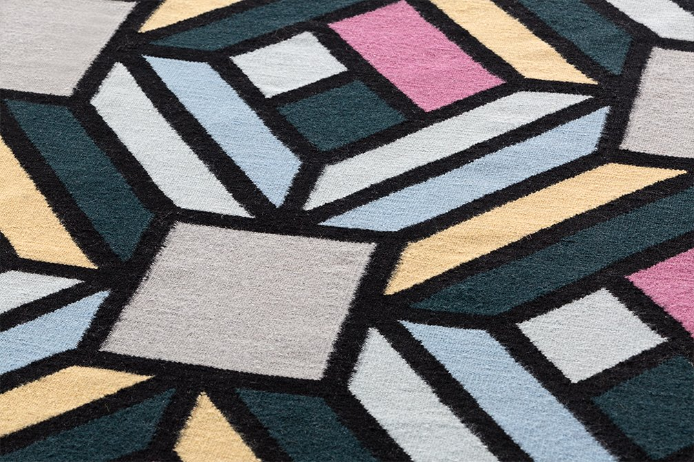 Parquet Tetragon Rugs from Gan Rugs, designed by FRONT