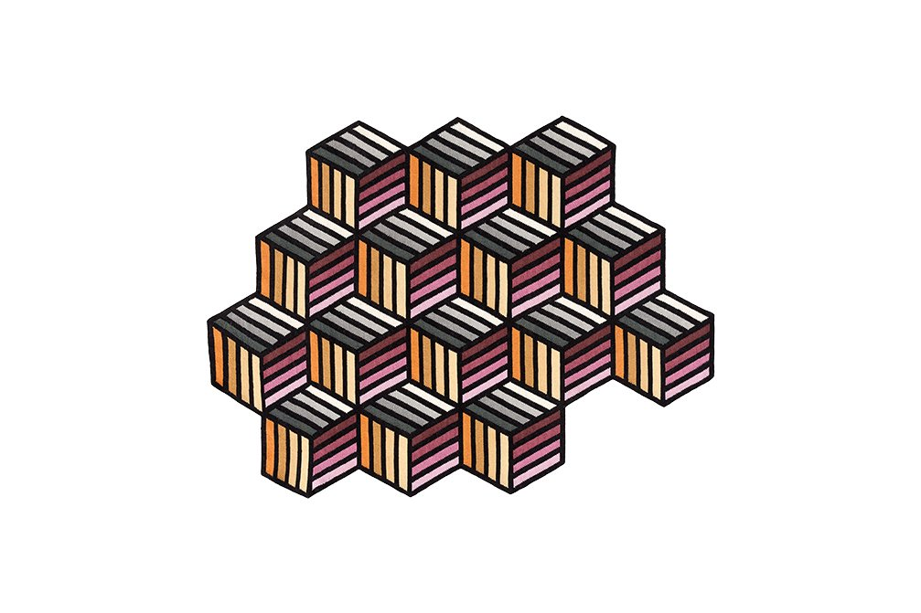 Parquet Hexagon Rugs from Gan Rugs