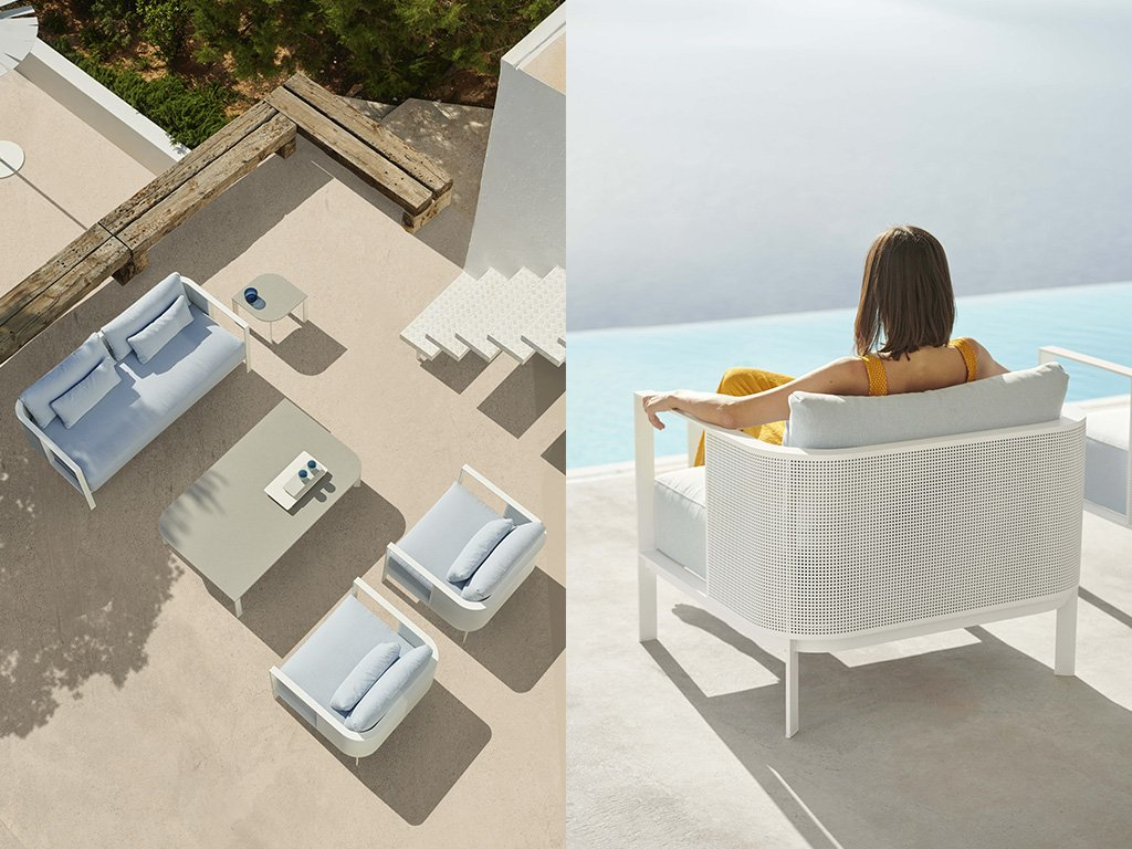 Solanas Lounge Chair from Gandia Blasco, designed by Daniel Germani