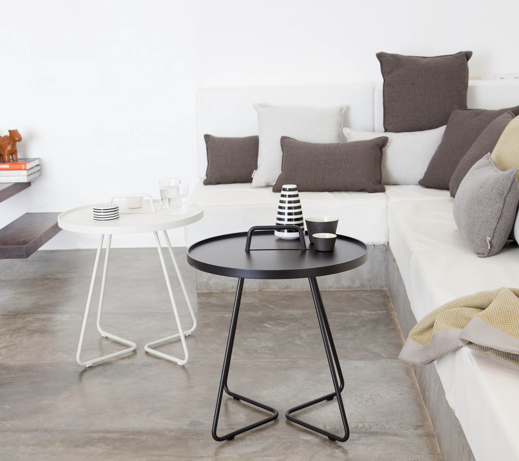 On the Move Side Table end from Cane-line, designed by Strand+Hvass