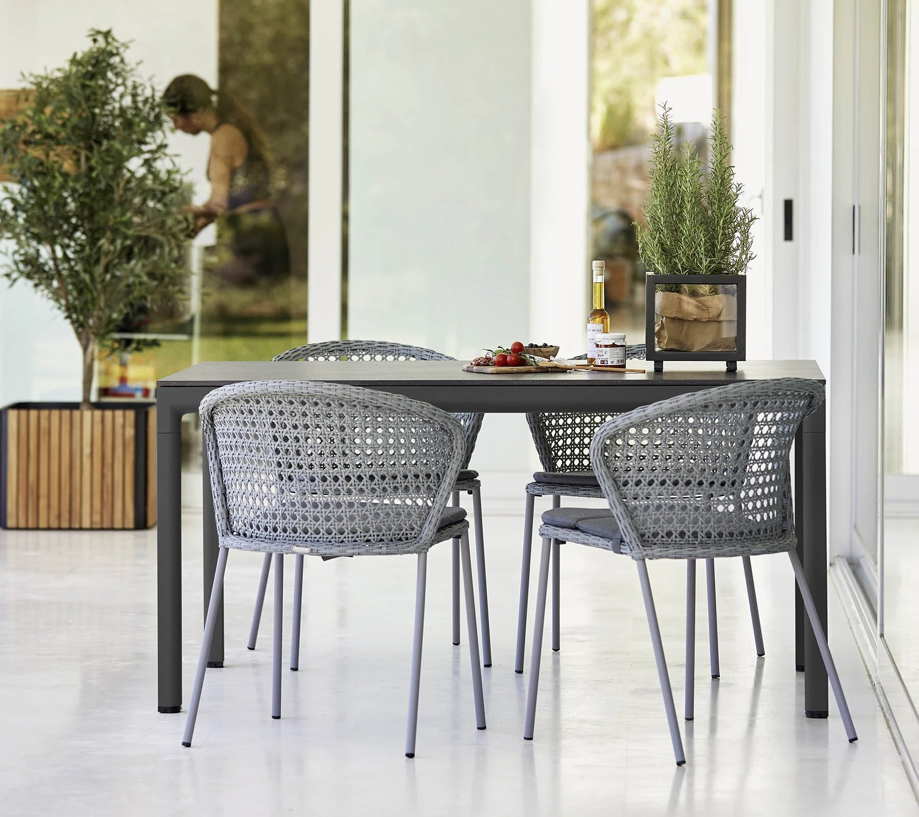 Drop Dining Table from Cane-line, designed by Cane-line Design Team