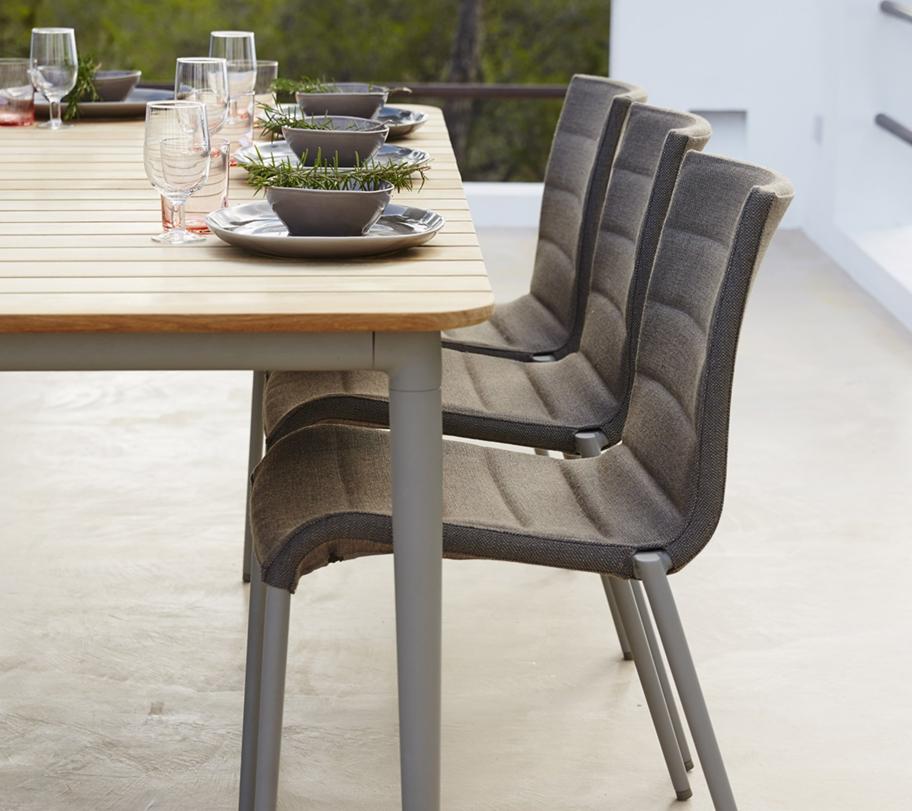 Core Dining Table from Cane-line, designed by Foersom & Hiort-Lorenzen MDD