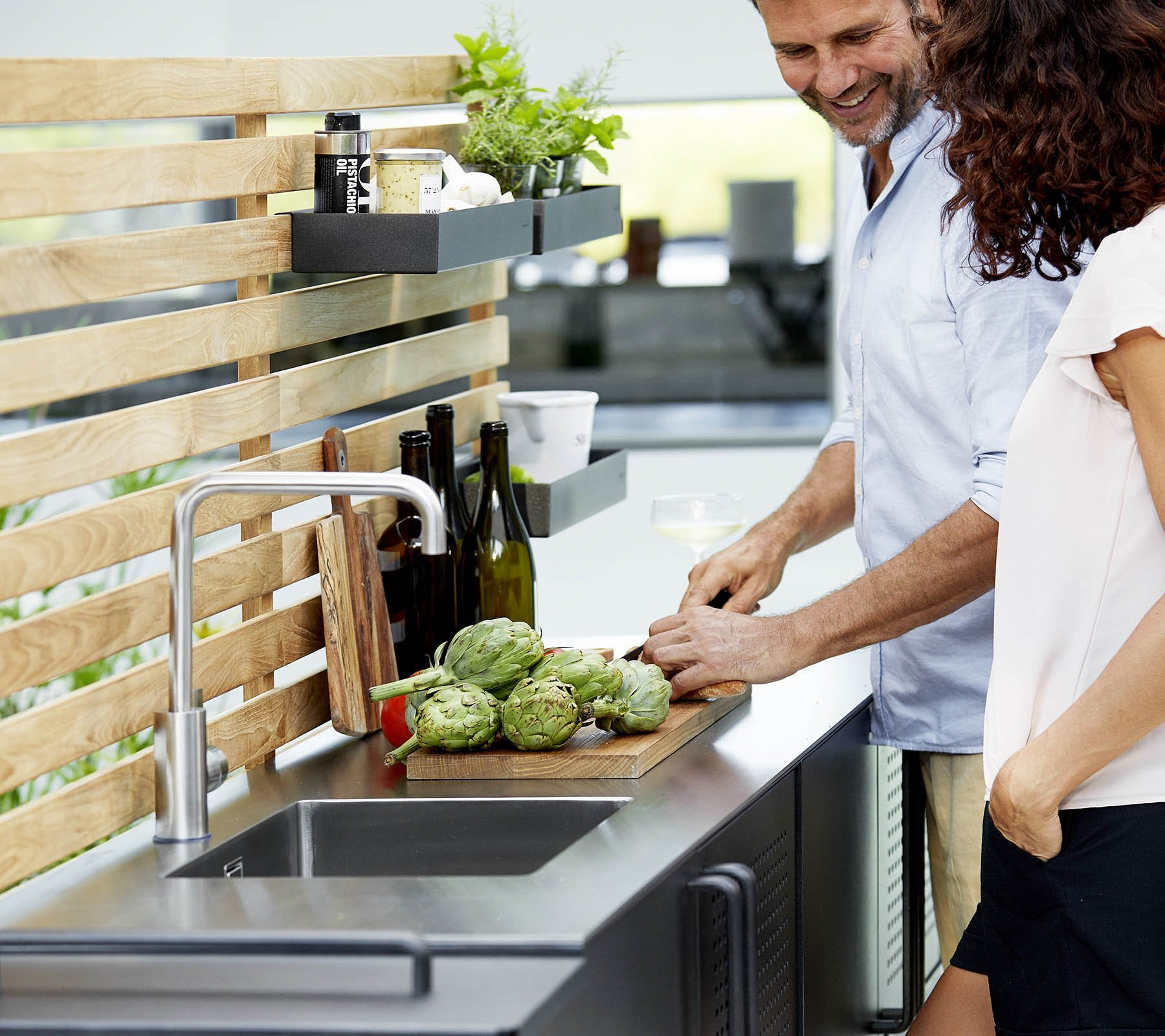 Teak Wall for Drop Kitchen accessory from Cane-line