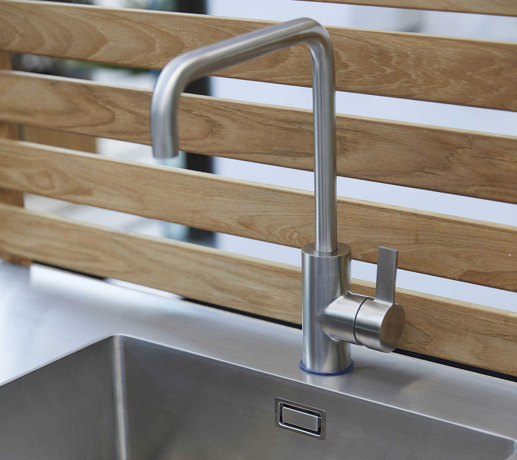 Teak Wall for Drop Kitchen accessory from Cane-line, designed by Cane-line Design Team
