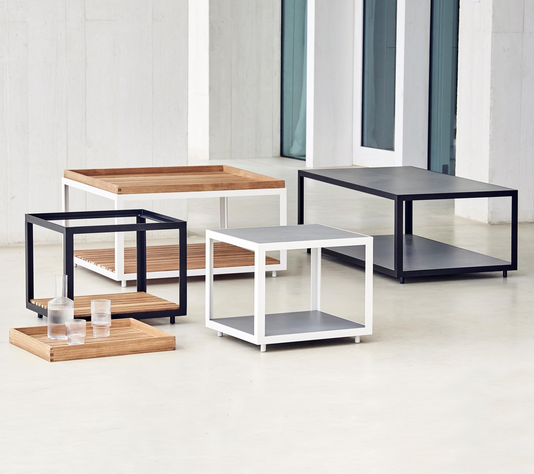 Level Coffee Table from Cane-line, designed by byKATO