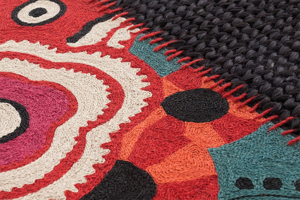 Spaces Rustic Chic Flower Rugs from Gan Rugs, designed by Sandra Figuerola