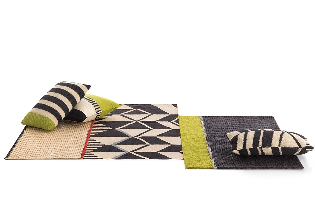 Spaces Rustic Chic Geo Rugs from Gan Rugs, designed by Sandra Figuerola