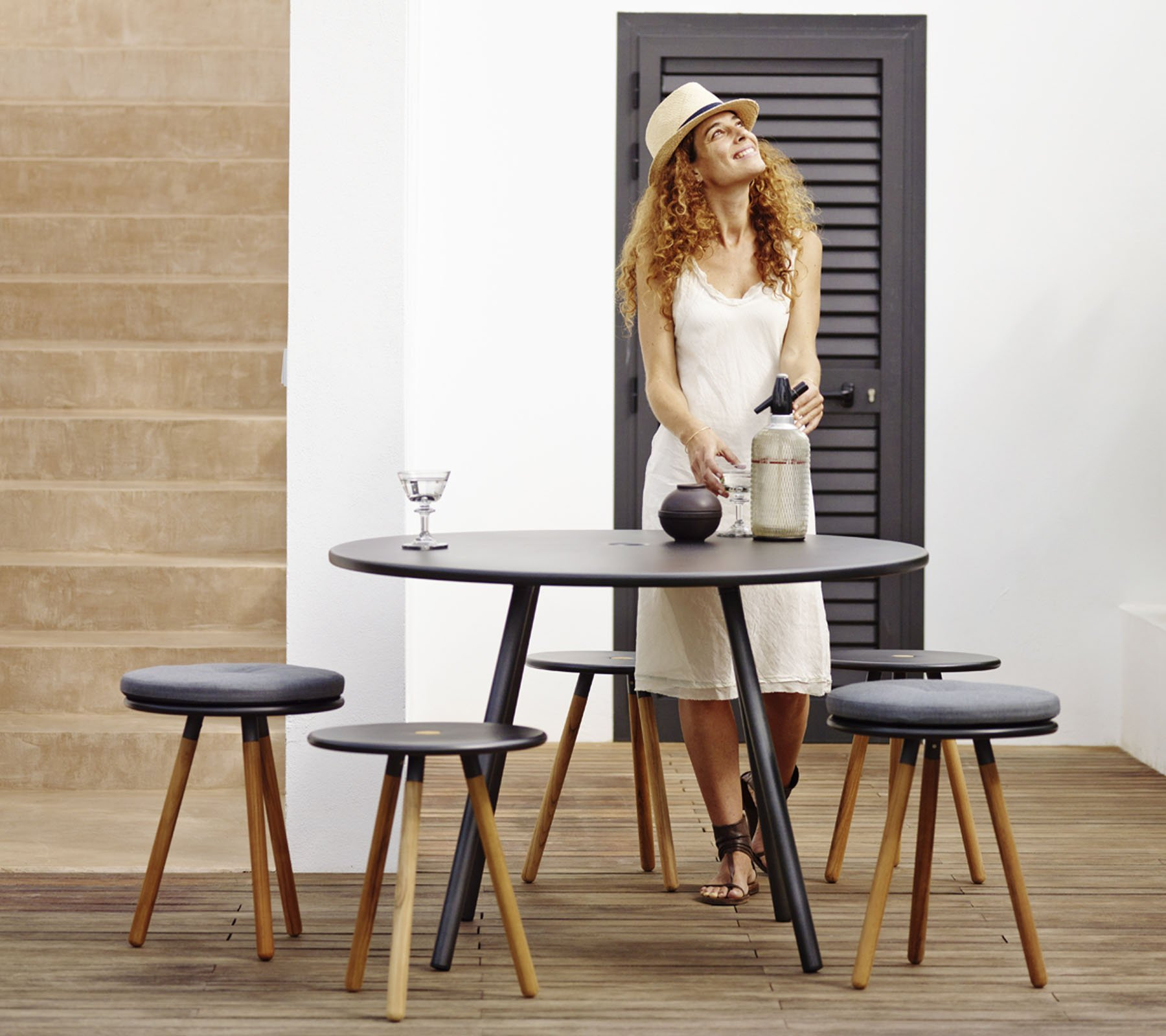 Area Table dining from Cane-line, designed by Welling/Ludvik