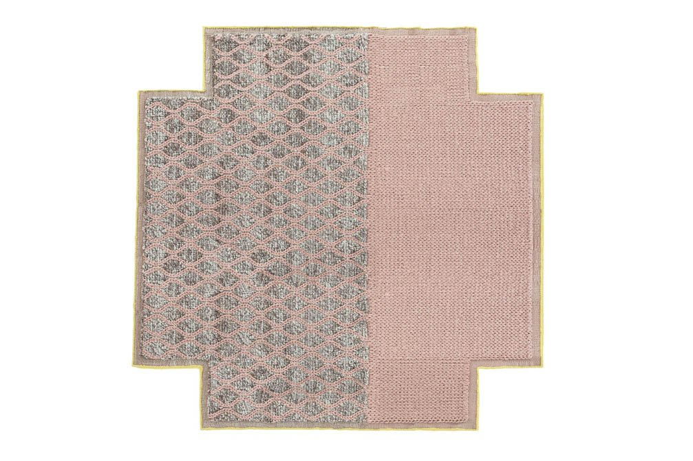 Spaces Mangas Rhombus Square Rugs from Gan Rugs, designed by Patricia Urquiola