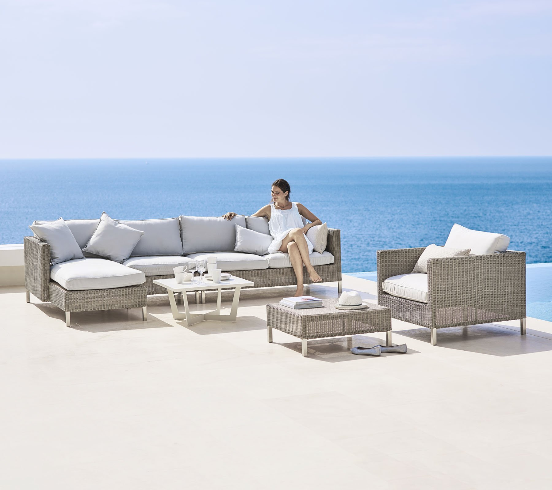 Connect 2 Seat Left Module Sofa modular from Cane-line, designed by Cane-line Design Team
