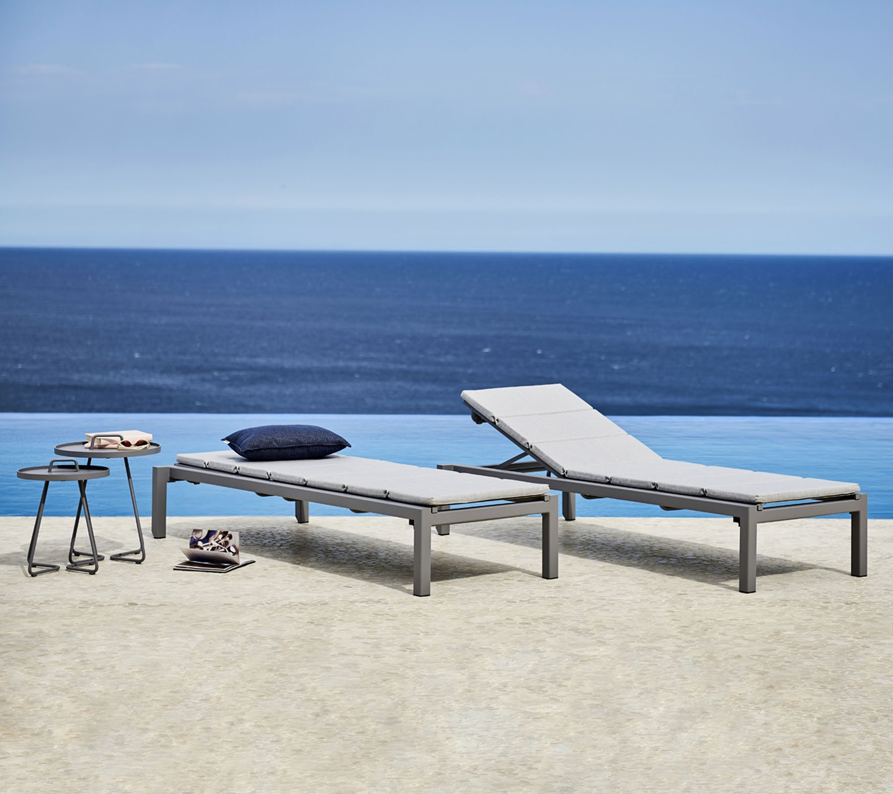 Relax Sunbeds from Cane-line, designed by Cane-line Design Team