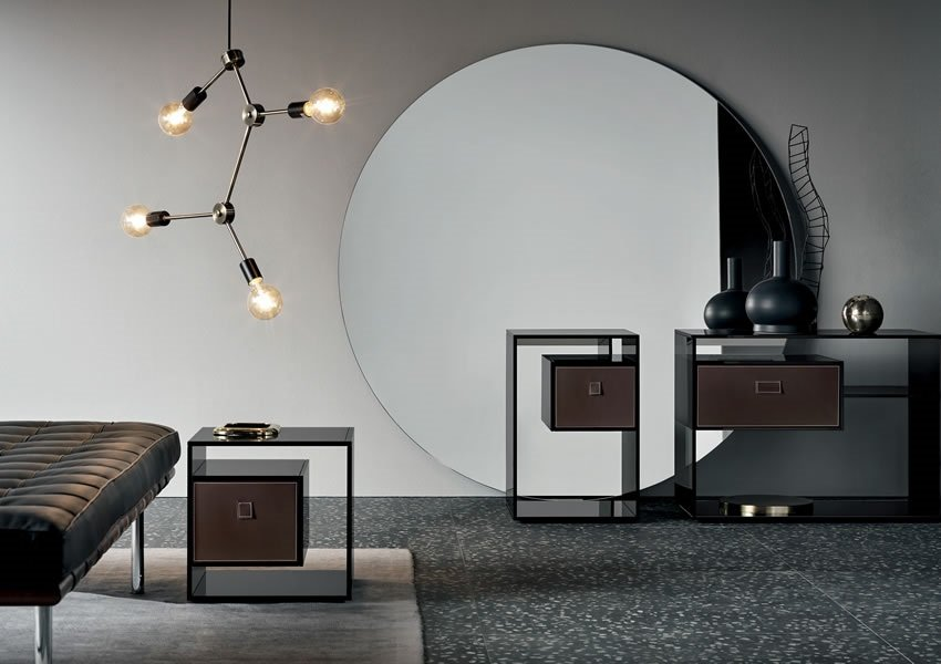 Liber F end table from Tonelli, designed by Luca Papini