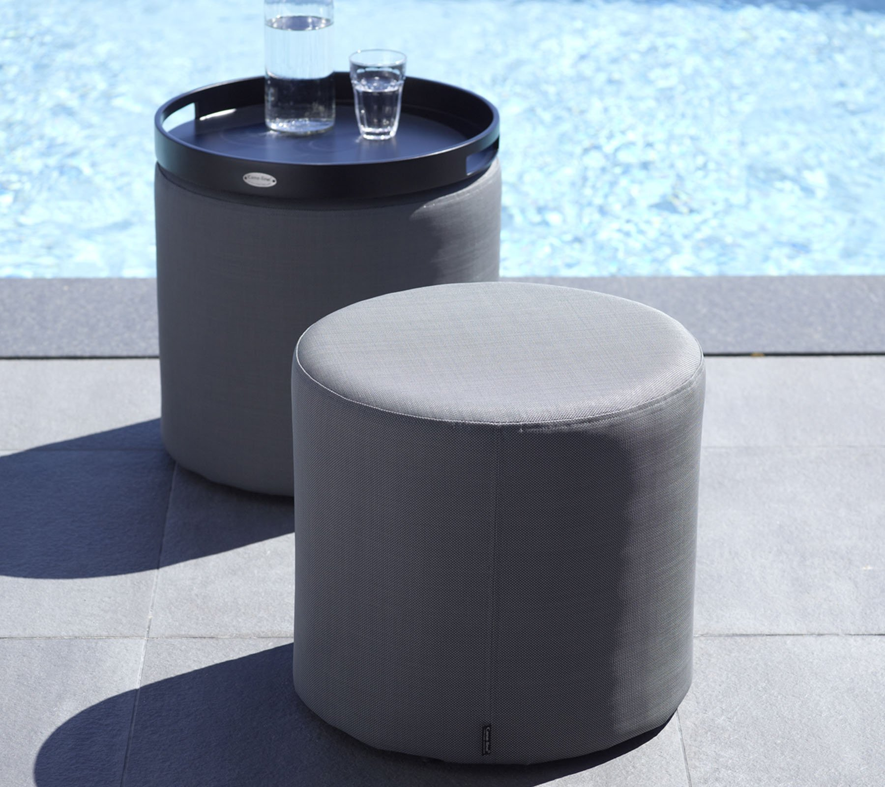Rest Side Table/Footstool ottoman from Cane-line, designed by Cane-line Design Team