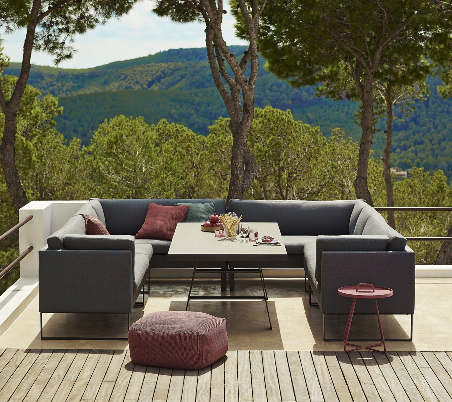 Flex 2 Seat Right Module Sofa modular from Cane-line, designed by Cane-line Design Team