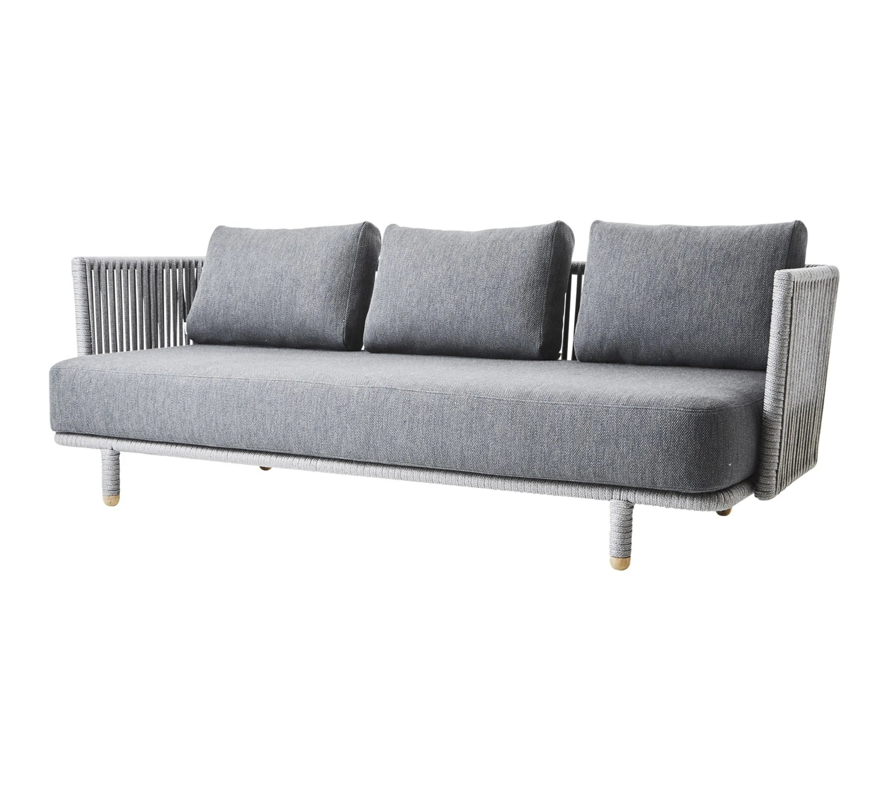 Moments 3-Seater Outdoor Sofa  from Cane-line, designed by Foersom & Hiort-Lorenzen MDD