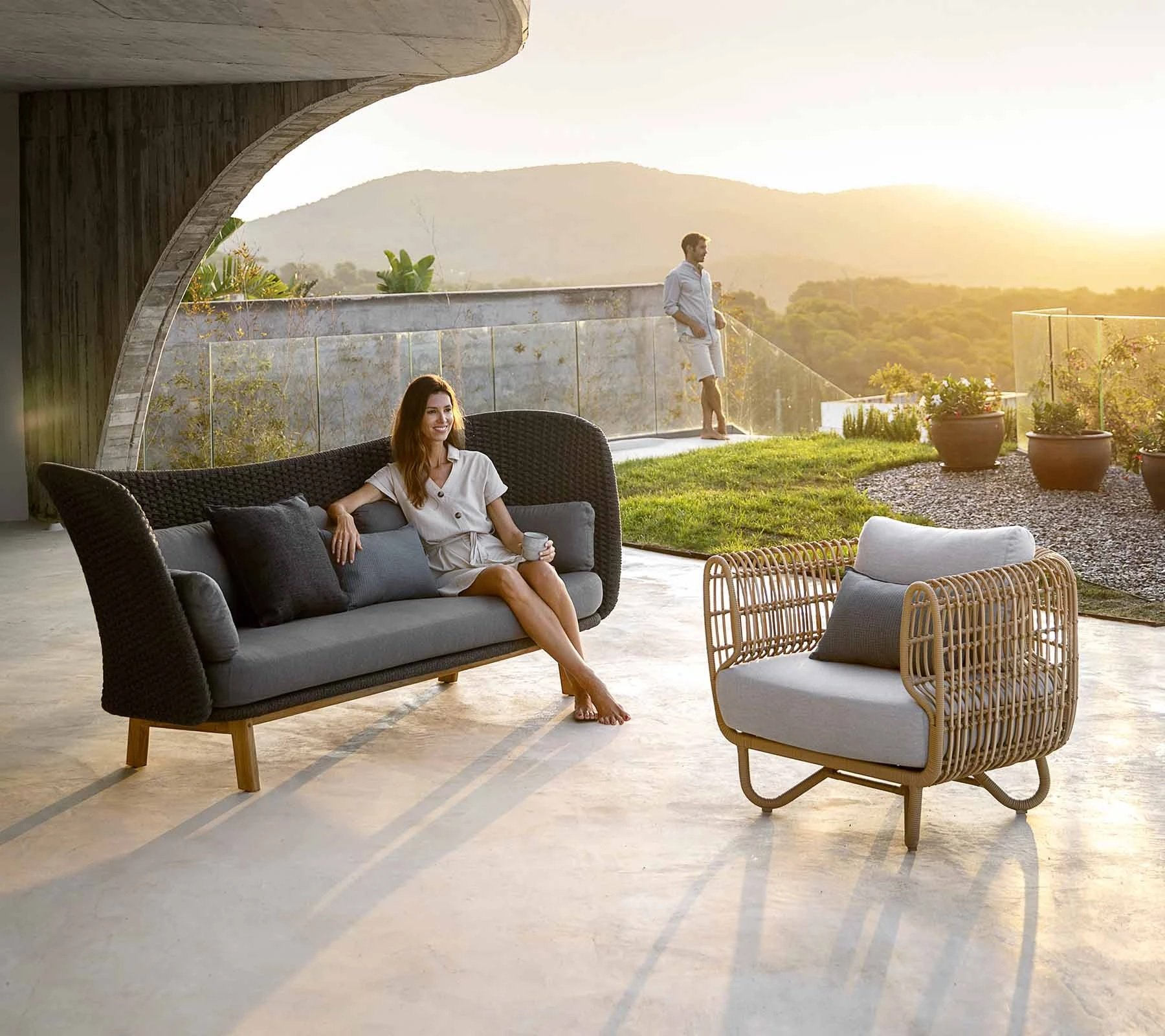 Nest Lounge Chair from Cane-line