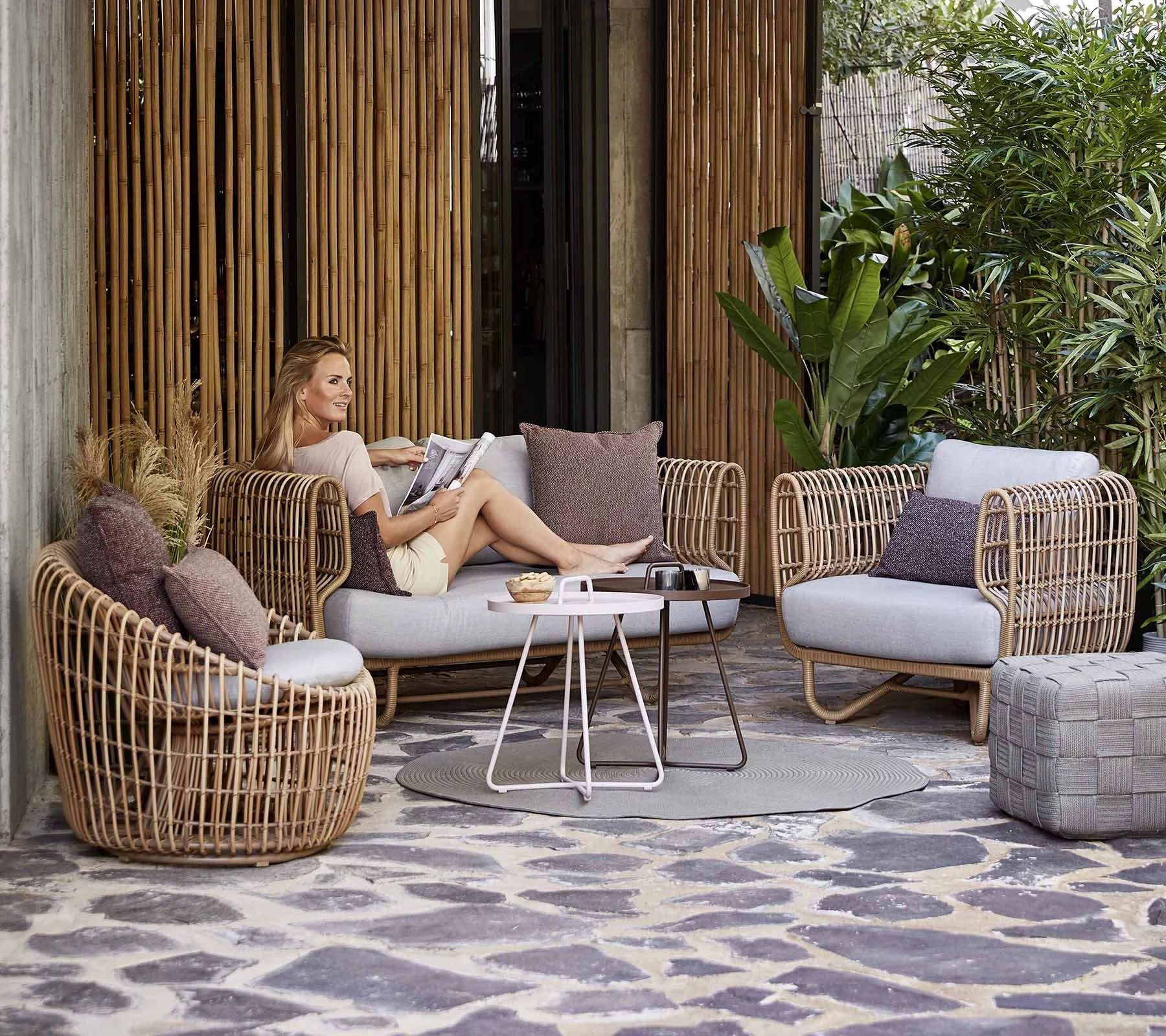 Nest 2-Seater Sofa from Cane-line, designed by Foersom & Hiort-Lorenzen MDD