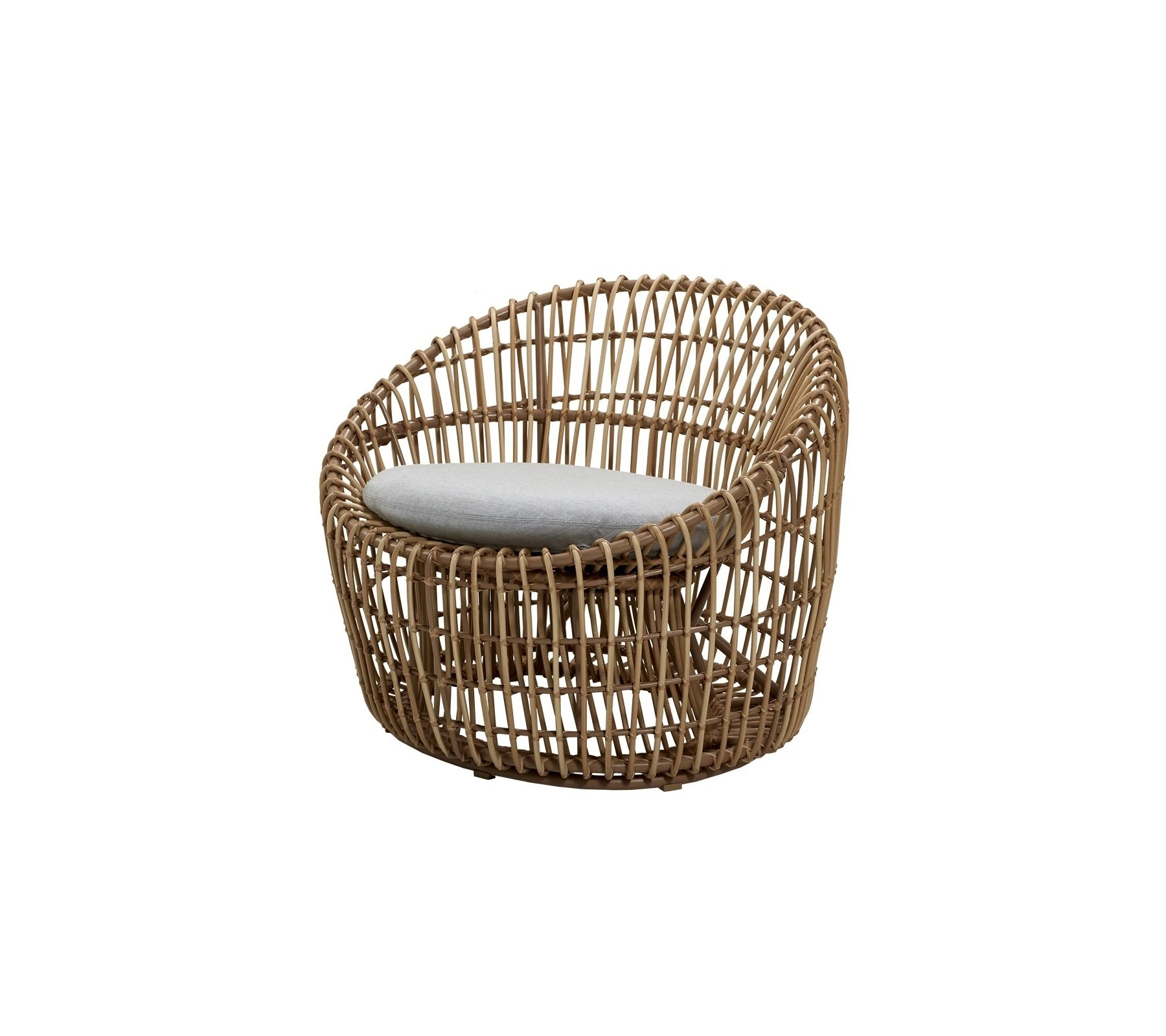 Nest Round Lounge Chair from Cane-line, designed by Foersom & Hiort-Lorenzen MDD