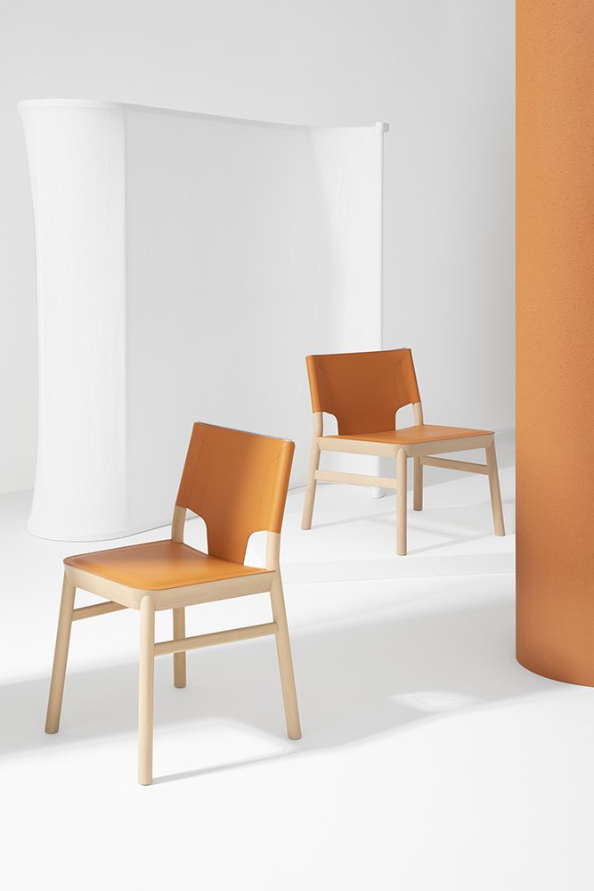Marimba Dining Chair from Billiani, designed by Emilio Nanni