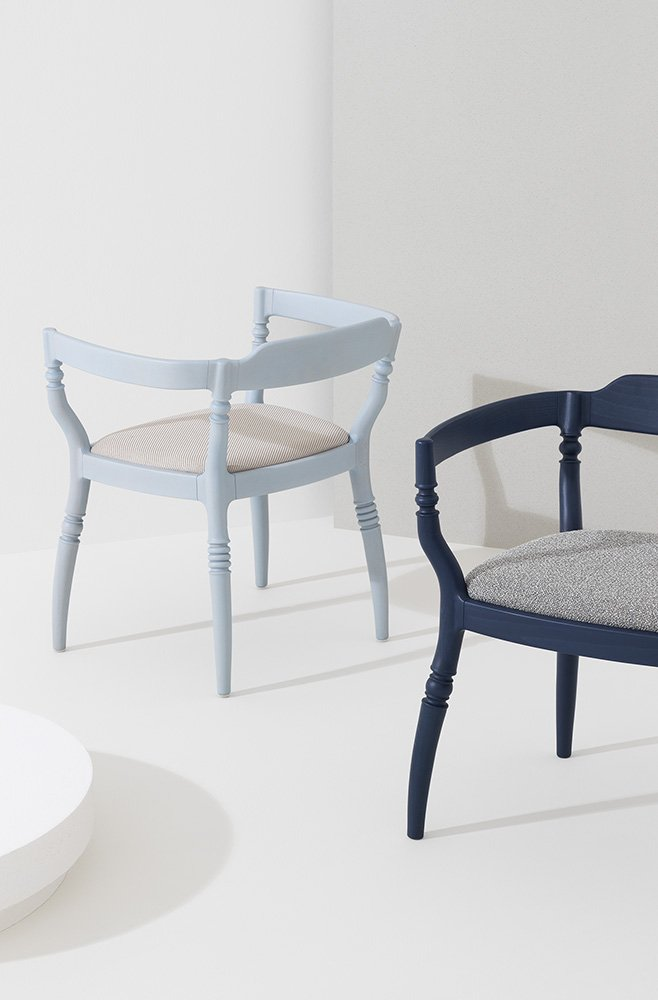 Toccata & Fuga Dining Chairs from Billiani, designed by Paul Loebach