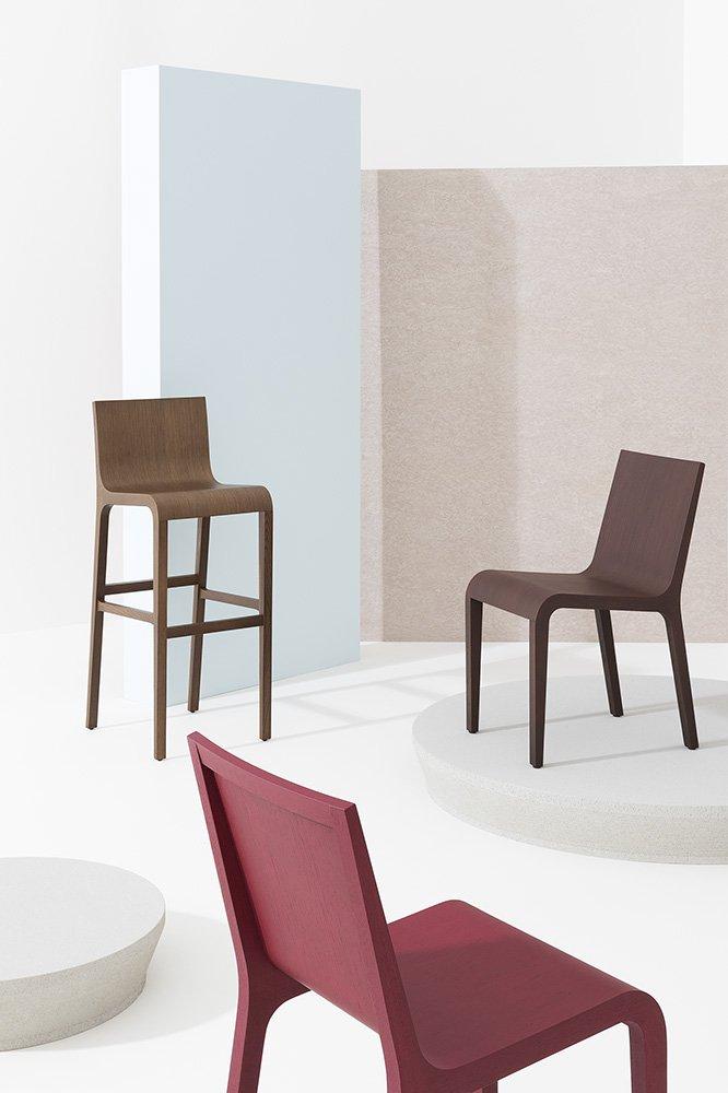 Foglia Stool from Billiani, designed by Marco Ferreri