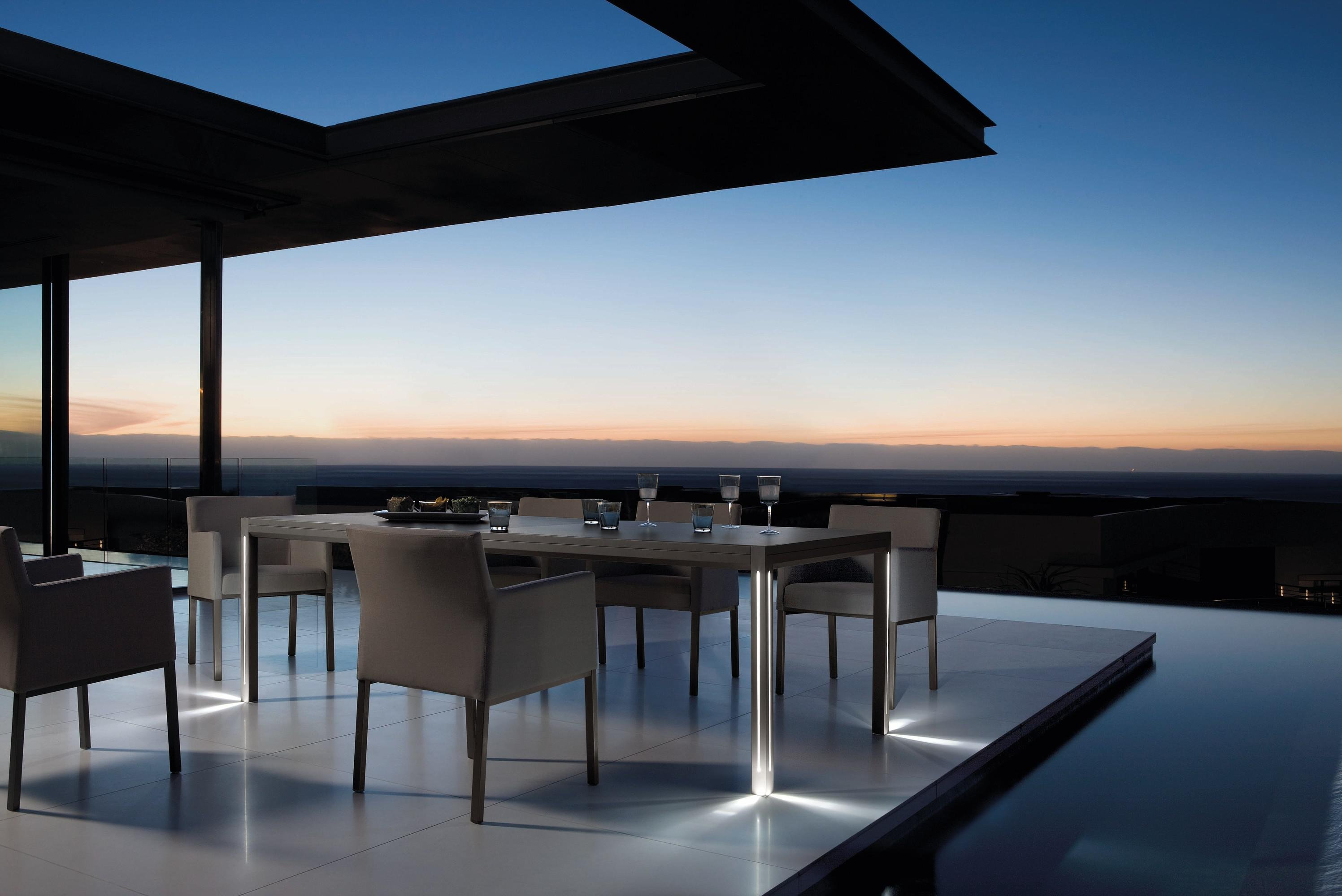 Luna Dining Table from Manutti, designed by Stephane De Winter
