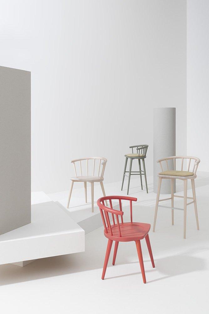 W Stool from Billiani, designed by Fabrizio Gallinaro