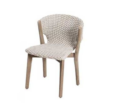 Knit Dining Chair from Ethimo, designed by Patrick Norguet