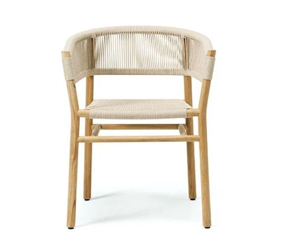 Kilt Dining Chair from Ethimo, designed by Marcello Ziliani