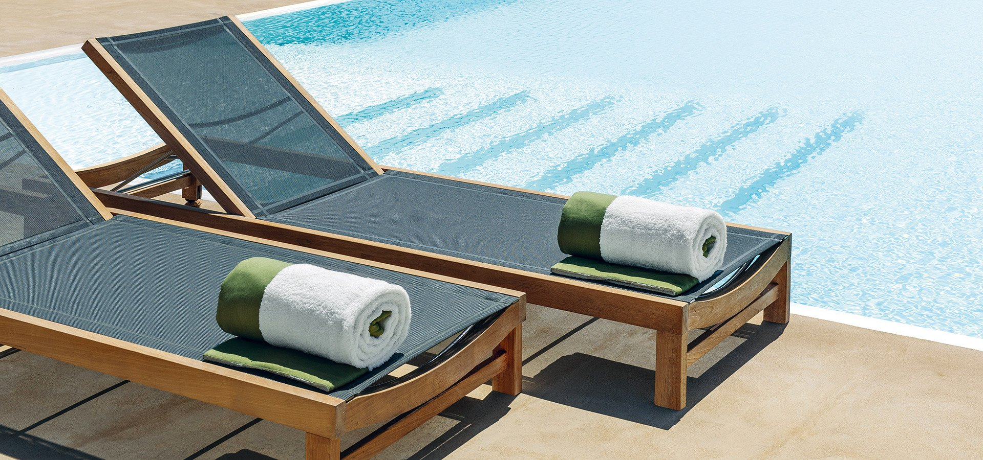 Sand Sunbed  from Ethimo, designed by Ethimo Studio