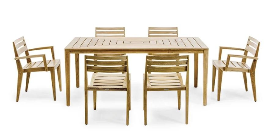 Ribot Dining Chair from Ethimo, designed by Marc Sadler