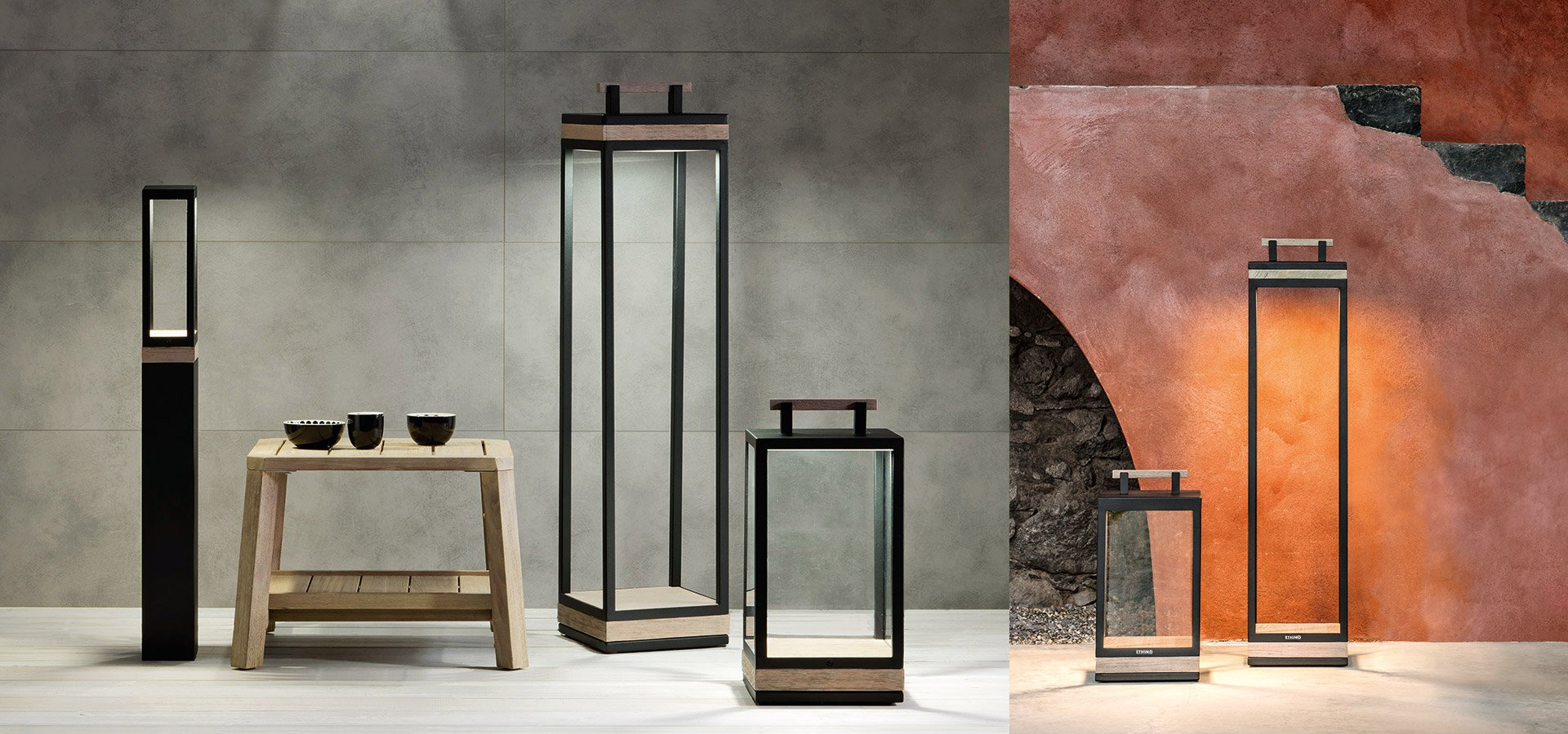 Carre Lamp lighting from Ethimo, designed by Niccolò Grassi