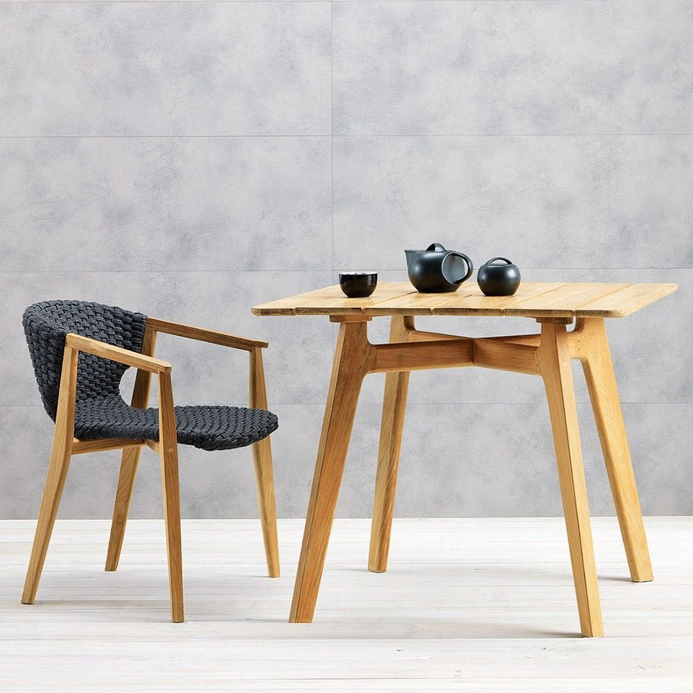Knit Dining Armchair from Ethimo, designed by Patrick Norguet