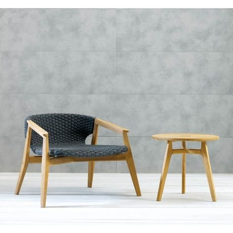 Knit Lounge Chair from Ethimo, designed by Patrick Norguet