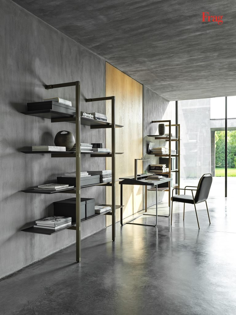Morgans Bookcase from Frag, designed by Dainelli Studio
