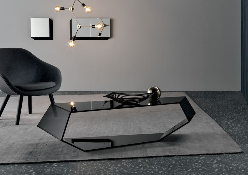 Dekon 2 coffee table from Tonelli, designed by Karim Rashid