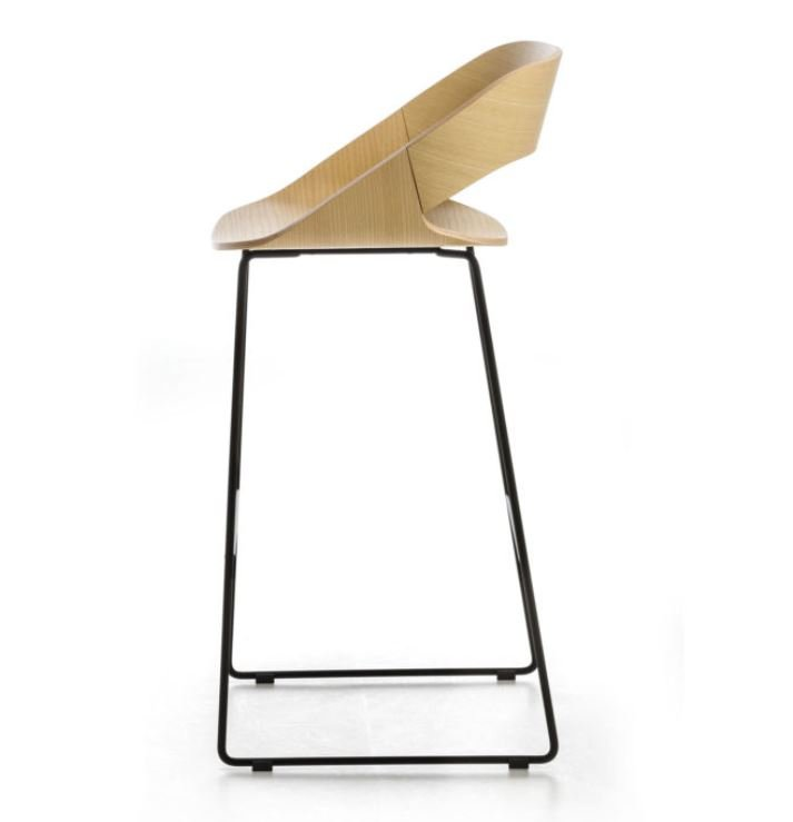 Kabira Sled Stool from Arrmet, designed by Kensaku Oshiro